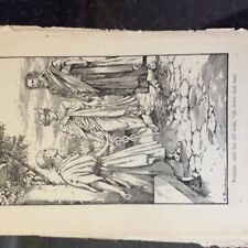 A1c ephemera vintage book plate friends said the old man, sit down and rest