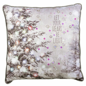 Grasslands Road Christmas Holiday Throw Pillow - 472986D MFR DEFECT