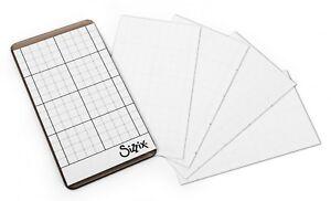 "Sizzix Sticky Grid Sheets 5pk #663534 Retail $4.99 2 1/2"" x 4 1/2"" Tim Holtz"
