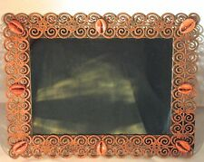Cowrie Shell - Filigree - Rectangle Metal Frame Mirror by MJG's Creations