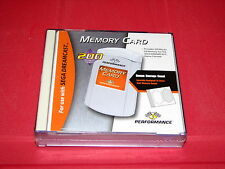 Sega Dreamcast Game System Performance Memory Card w Case Sealed New MIP 1999