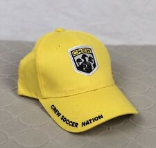 "NEW Columbus Crew Yellow MLS Hat ""Crew Soccer Nation"" Adult Mohrs Brand"