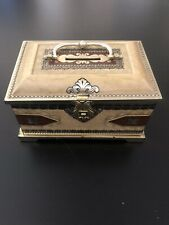 Antique Blue Bird Confectionery Treasure Chest Bank Tin with Lions