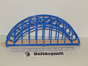 First Learning Super Wooden Train Set Replacement Blue Bridge Part Piece Only