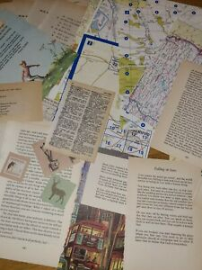 80 Pcs Vintage Papers & Maps For junk journal paper craft