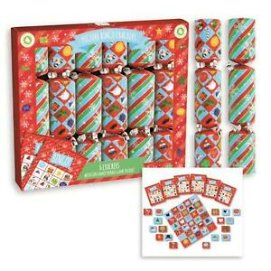 6 Pack Novelty Game Christmas Crackers - Picture Bingo