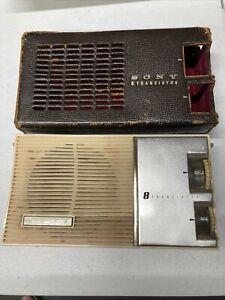 Vintage Sony 8 Transistor Super Sensitivity Radio Model TR-84 ~ Japan - Works