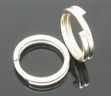 800 Silver Tone Double Loops Open Jump Rings 6mm Dia.