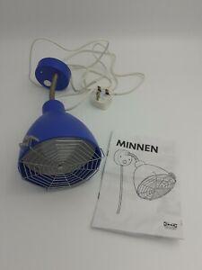 Ikea Minnen Blue Lamp Adjustable Spotlight Detachable Spider Web Kids Bedroom