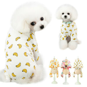 Fruit Small Dog Cat Pajamas Pjs Cotton Print Puppy Jumpsuit Chihuahua Clothes