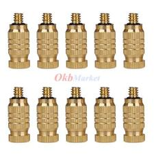 10x Brass Misting Nozzle Water Mister Sprinkle Garden Patio Cooling Spray 0.3mm