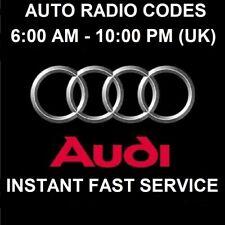 Audi Navigation Plus Stereo Radio Code
