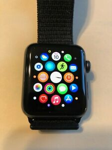 Apple Iwatch 42 MM Apple Series 3 130688 GPS Space Aluminum Case Watch