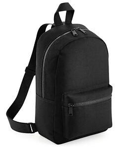 Bagbase Mini Backpack Womens Fashion Rucksack Ladies Girls Small Shoulder Bag