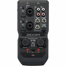 Zoom U-24 Channel Audio Interface - Portable Digital Studio Audio Recording
