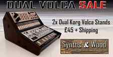 2x DUAL KORG VOLCA BASS SAMPLE BEAT KEYS 2 TIER STAND CUSTOM MADE HOLDS 2 VOLCAS
