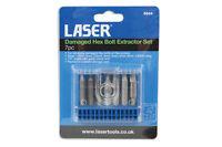 Laser Tools  Hex Allen Key Bolt Screw Extractor Tool Set 7pce 1.5mm - 6mm