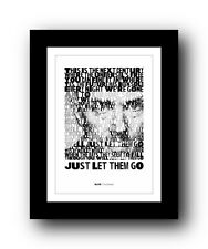 More details for blur the universal  ❤  song lyrics typography poster art print