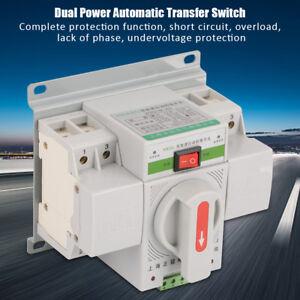 220V 63A Mini Automatische Umschalter Leistungschalter Transferschalter NEU