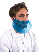 Disposable Blue Beard Snood Covers Cover Catering Food Mask Hygiene x 100