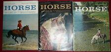 Arabian Horse World Magazine - 3 Issues, 1972 and 1974