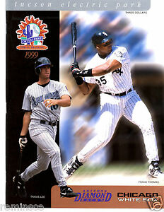 RARE 1999 AZ DIAMONDBACKS / CHICAGO WHITE SOX SPRING TRAINING PROGRAM - F THOMAS