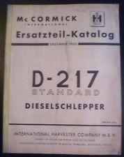 Mc Cormick D 217 Schlepper Ersatzteilliste