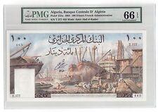 """Algeria 100 Francs 1964 Pick# 125a PMG GEM UNC 66 """"Large Size"""" """"Vintage"""" """"Rare"""""""