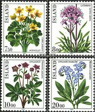 Iceland 592-595 (complete.issue.) unmounted mint / never hinged 1983 Flowers