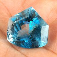 VVS Natural Swiss Blue Topaz 41.32 Cts Fancy Cut Huge Certified Gemstone