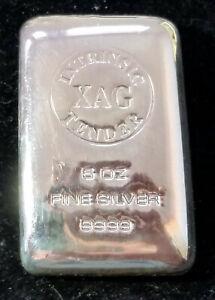 XAG Intrinsic Tender 5 oz .9999 Fine Silver Bar In Plastic Bag