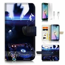 ( For Samsung S7 Edge ) Wallet Case Cover P0259 DJ Music
