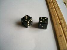 "6 pair,Water Buffalo Horn Dice, Black, 5/8""x5/8""(15x15mm)"