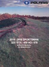 DIGITAL Polaris 2014 2015 2016 Sportsman Hawkeye 325 450 570 ETX service manual