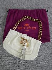 Handtasche/Clutch von Etro, Ecru/Cremefarben, neu