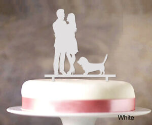 Couple Wedding Cake Topper Personalized Cake Topper Color Option-zDf