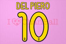Del Piero #10 2008-2010 Juventus Homekit Nameset Printing