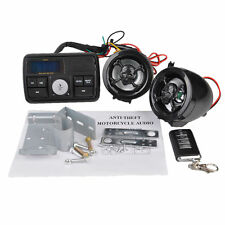 12V LCD Motorcycle Skull Audio FM Radio MP3 Anti-Theft Alarm Stereo Loud Speaker