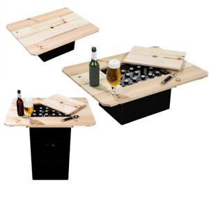 TOP Bierkasten Tischaufsatz Camping Kiefer Bier Tisch Bistrotisch Garten Party