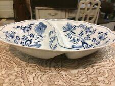 Vintage Blue Danube China Divided Oval Serving Bowl