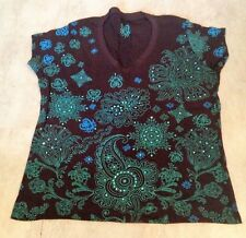 Woman's Plus Size 18-20 Brown Quality Patterned T Shirt