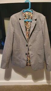 Boys River Island Blazer Jacket Grey Age 12yrs