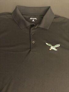 Antigua NFL Philadelphia eagles Football Embroidery Polo Shirt men XL Black new