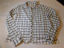 Hollister California Women's Junior's Long Sleeve Shirt S small plaid EUC--