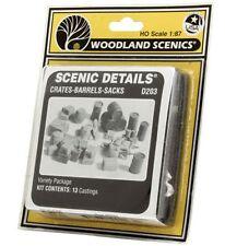 Woodland Scenics 1/87 Wd203 Boîtes Fibres Sacs / Crates barils Sacks