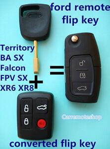 Ford Transponder Remote Flip Key Suits Model BA Falcon FPV XR6 SX Territory