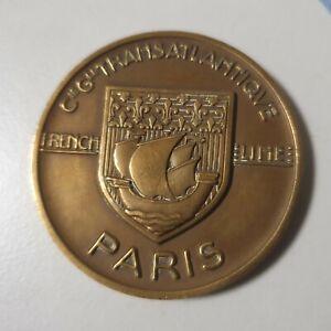 Médaille en bronze du paquebot Paris de la Compagnie Générale Transatlantique