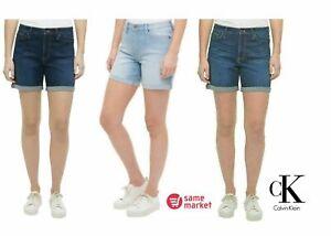NEW!!! Calvin Klein Jeans Women's Roll Cuff Denim Short Size & Color VARIETY!!!