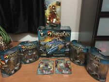 THUNDERCATS 2011 BANDAI LOT OF 8 FIGURES, VEHICLE & MORE THUNDER LINX FREE S/H