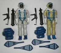 Lot 1985 GI Joe Cobra Polar Assault Snow Serpent v1 Artic Trooper Figure Set
